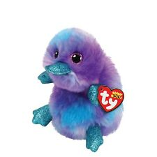 """TY ZAPPY THE PLATYPUS BEANIE BOO 6"""" SOFT TOY PLUSH WITH HEART TAG AGE 3+"""
