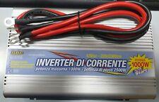 Convertitore di Corrente Inverter 12V 220V 1000W max 2500W auto raffreddamento