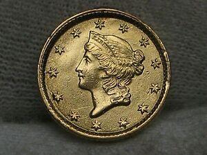 1854 Type I Gold US Dollar - Ex-Jewelry.  #24