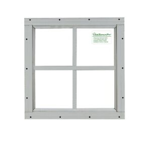 """Storage Shed Windows 12"""" x 12"""" square White, playhouse Safety Tempered Glass"""