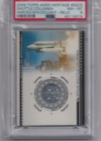 2009 Topps #SSC5 SPACE SHUTTLE COLUMBIA Authentic Space Flown Relic PSA 8 NM-MT