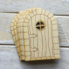 6 Pack Wooden Fairy Door 10.5cm High Plain Blank Craft Shapes Flat SC