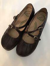 Dansko 38(7.5-8) Women's Brown Cross Strap Mary Jane Shoes. Comfortable EUC