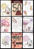 50th BIRTHDAY CARD ~ Open, Friend, Mum, Daughter, Sister, Wife - AGE 50