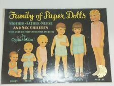 "Queen Holden Reproductions 18"" x 14"" Large Family of Paper Dolls"