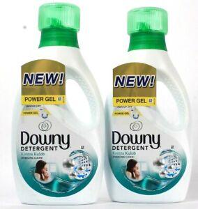 2 Bottles Downy 31.7 Oz Kontra Kulob Sparkling Clean Power Gel Liquid Detergent