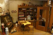 OLD TIME GENERAL STORE Lighted Diorama Shadow Box Doll House 100+