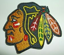 "Chicago Blackhawks Embroidered Patch~3"" x 2 5/8""~Iron Sew~NHL~Ships FREE"