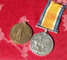 WW1 Pair BWM/VM To Stoker J F Penwarn R.N. 19719 With Ribbon