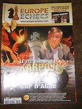 Europe Echecs N° 627 Karpov 10e recontre Cap d'Agde Vachier Lagrave Alekhine