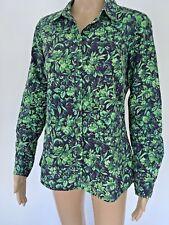 Sportscraft Liberty shirt top 8 green blue floral gorgeous EUC