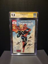 Avenging Spider-Man 9 CGC 9.8 SS Stan Lee +3x Signed 1st  Danvers as Cap Marvel