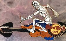 Hard Rock Cafe HONOLULU 2014 Skeleton Surfer GUITAR PIN LE 300 Mint New HRC Bag!