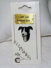 Vintage Greyhound Dog Lapel Pin, Black and White, Tie Tac Jewelry Nip