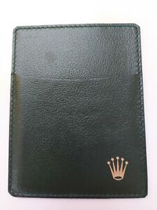 ROLEX Document Holder Card Wallet Green Leather 0101.40.05