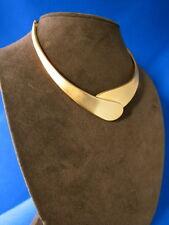 Vintage Unworn Robert Lee Morris 24k Gold Plated Overlap Collar Mint Condition