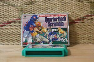 Quarter Back Scramble w/box NES Famicom Japan Nintendo VG-!