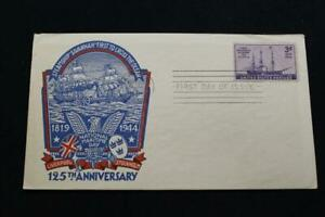PATRIOTIC COVER 1944 1ST DAY ISSUE 125TH ANNIV STEAMSHIP SAVANNAH STAEHLE (6811)