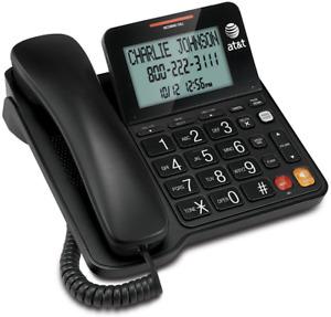 Corded Landline Phone Caller ID Home Desk Wall Mount Large Tilt Display Speaker