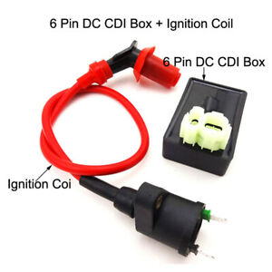 6 Pin DC CDI Box Ignition Coil For Kymco SYM Vento Scooter GY6 50cc 125cc 150cc