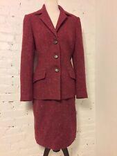 James Purcell VTG 90s Dormeuil Wool Tweed Midi Skirt Suit Blazer Pink size 10