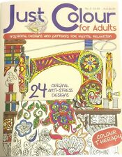 JUST COLOUR FOR ADULTS RELAXING THERAPY ART COLOURING BOOK STRESS RELIEVING No.2