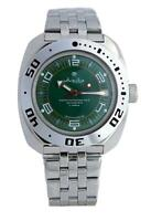 Vostok Amphibian 710405 Watch Russian Military Auto Scuba Divers Green