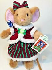 New listing Applause Mouse Girl Elizabeth Plush Holiday Stuffed Toy Red Velvet 51139 Tags