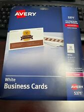 Avery White Laser Business Cards 5371 250cardspack