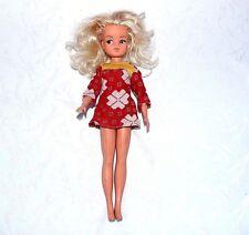 SINDY Teenage Doll Vintage Robe Rouge Blonde 033055 jouet enfant collection B16