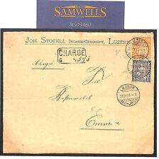 MS3460 1881 SWITZERLAND Superb Registered *Helvetia* Franking Luzern Cover Emmen