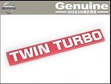 NISSAN SKYLINE GTR R32 R33 R34 RB26DETT TWIN TURBO Genuine Emblem Badge