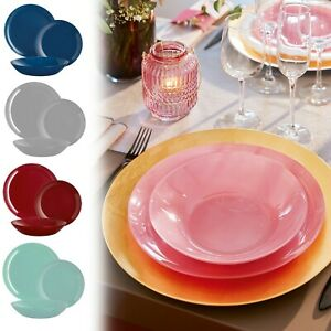 Luminarc Arty Translucent 18pc Opal Glass Dinner Set Dinnerware Summer Christmas