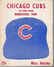 1965 Spring Training Baseball Program Boston Red Sox @ Chicago Cubs, unscored~Fr