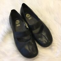 Merrell Brio Black Women's Mary Jane Slip-On Leather  Shoes Green Loafers Sz 8.5