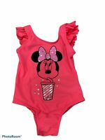 Baby Gap Girl's Pink Ruffle Minnie Mouse One Piece Swimsuit New 2 3 4 5