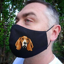 Basset Hound Dog Lovers Face Mask Fabric 100%Cotton Double Layer New Great Fit