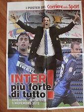 INTER F.C. INTERNAZIONALE STRAMACCIONI PALACIO MILITO POSTER STADIO CORRIERE