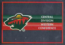 16/17 PANINI NHL STICKER TEAM LOGO #359 MINNESOTA WILD *24976