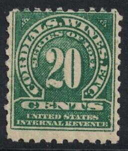 Scott RE12- MNH, sm. gum dist.- 20c Wines, Revenue Stamp- Series of 1914- mint