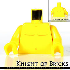 NEW Lego Minifig YELLOW SHIRT TORSO w//Buttons /& Pocket Pen Boy Girl Logo Upper