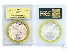 1924 US Peace Silver Dollar $1.00 $1 PCGS MS65 GEM UNC