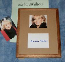 BARBARA WALTERS/AutogCard&PhotoFramed/Photos/REAL HOT