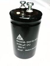 CONDENSATEUR ÉLECTROLYTIQUE 3100 uF 360 Volt modèle: B43406-S9318-A54
