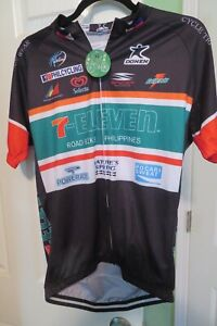 Donen Cycle Tri Run Wear  Zip Up Shirt, Spyder 7-Eleven with tag