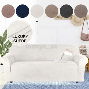 Water Repellent Sofa Cover Luxury Suede Couch Covers Velvets Stretch Slipcover