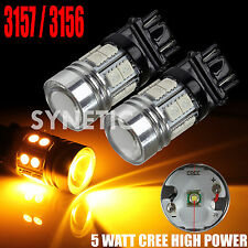 2x 3157/3156 Amber/Yellow High Power CREE Turn Signal, Brake Light, Q5 LED Bulbs