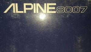Alpine 8007 Car Alarm w/Siren | Old School Head Unit Security System (New!)