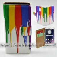 For OPPO Series - Rainbow Paint Theme Print Wallet Mobile Phone Case Cover