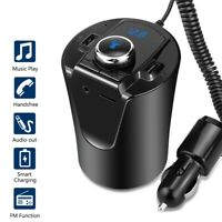Car Bluetooth Kit FM Transmitter Wireless Radio Adapter USB Charger MP3 Player R